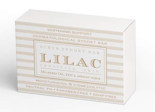 Lilac Whitening Support Dermatological SYNDET BAR Seife Soap-free,paraben free and pH neutral 100 gr