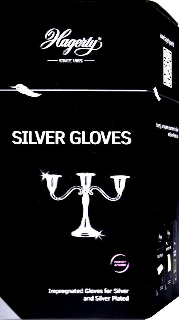 Hagerty Silver Gloves, 1 Paar